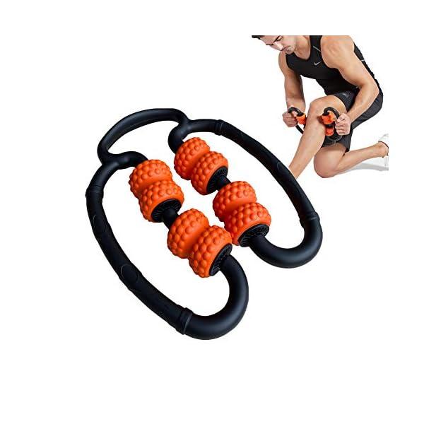 Circle Hand held Foam Massage Roller Stick,Deep Tissue Massager for Myofascial Relief...