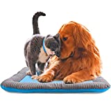 NON-SLIP GRIP: The non-slip grip prevents skidding or sliding making it great to use with any pet crate, cage, or vehicle. EASY TO CLEAN: This product is machine washable, just simply pick it up and throw it in the wash. It will be good as new. COOLI...