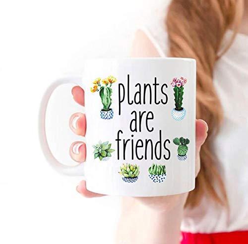 N\A Las Plantas Son Amigos Taza Planta Amante Planta Señora Taza Planta Loca Señora Planta Regalo Planta Señora Taza de café Planta Loca Señora Regalo
