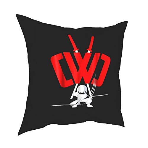 CW-C Top Secret New mission recluit hacker espía ninja en línea juegos 3ds Fundas de cojín con sofá impermeable dormitorio conjunto 16x16 pulgadas
