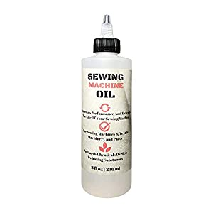 Stainless Sewing Machine Oil - 8 Oz - Custom Formulated, Compatible with Singer, Bernina, Kenmore, and Other Commerical Sewing/Embroidery Machines