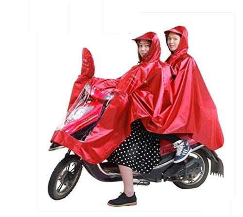 TIANTANSAN Chubasquero para Adultos Cabalgata para Motocicleta Chubasquero Doble Vehículo Eléctrico Coche...