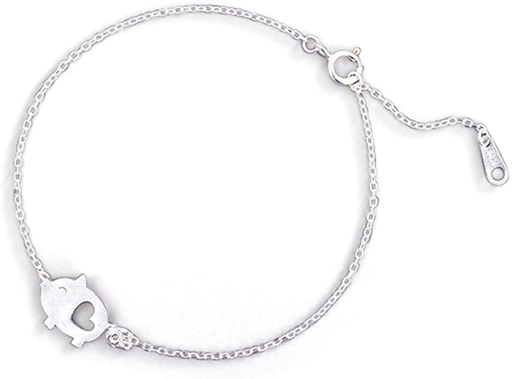 Manufacturer regenerated product Cute Pig Bracelet It is very popular for Women Matte Delicate Girls Sterling Silver