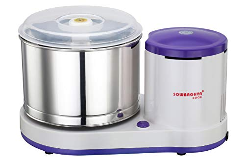 Sowbaghya Edge 2 LTR Table top Wet Grinder (Without Attachments) (Violet)