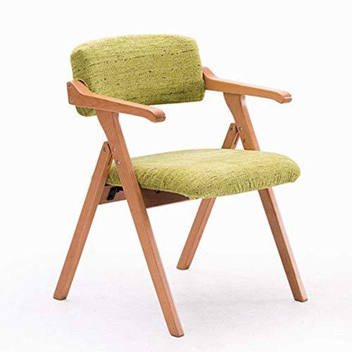 XNLIFE Eenvoudige Effen houten eetkamerstoel Scandinavisch minimalistisch creatief met armleuning klapstoel bureaustoel conferentie stoel recreatieve stoel Voor Keuken Of Bar