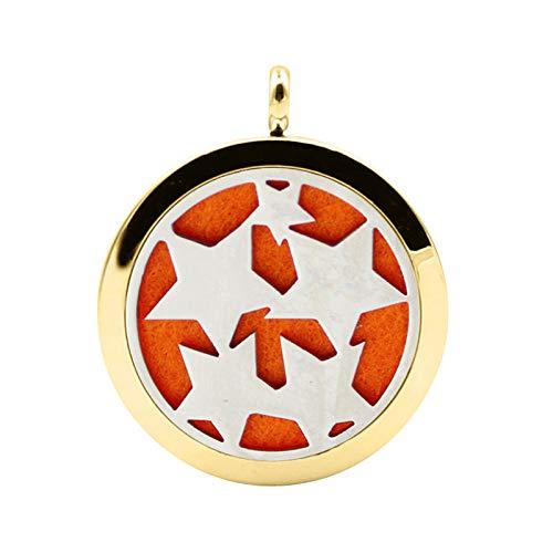 YQMR Colgante Collar para Mujer,Collar Difusor De Aceite Esencial Vintage Estrellas Grabadas Galaxia Colgante Redondo Dorado Dama Regalo De Joyería Retro para Mujeres Aniversario De Cumpleaños