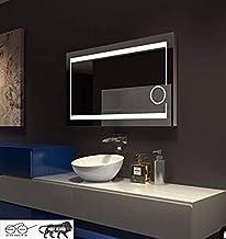 ARANAUT Arvind Sanitary LED 2 Side LINE Modern Frameless Fancy Antique Decorative Wall Mirror (White)