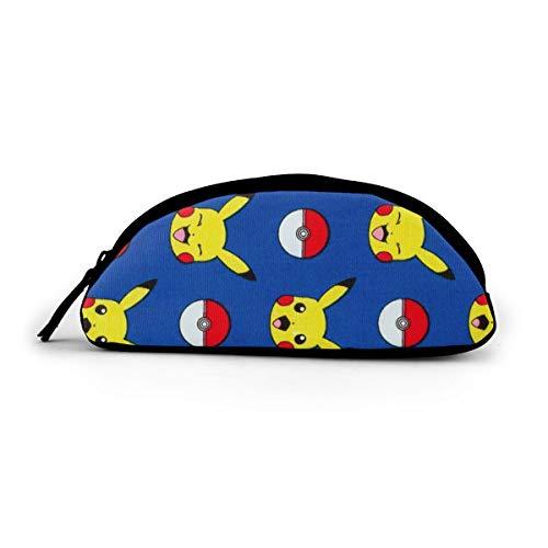 Pikachu Federmäppchen mit Weihnachtsmütze, große Tasche mit Reißverschluss, halbrund, groß, Stoff – Schule Make-up