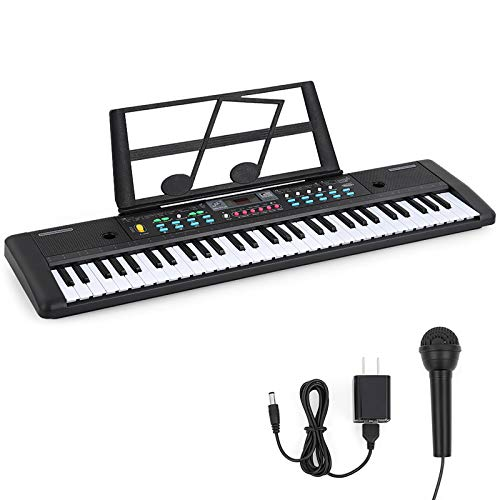 Best Buy! 61-Key Electronic Keyboard with Built- In Speaker,Microphone, Electronic Organ with Dual P...