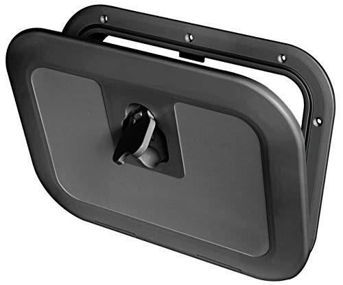 Osculati Kunststoff Inspektionsluke - 380mmx280mm - erhältlich in den Farben Creme, schwarz oder grau, Farbe:schwarz