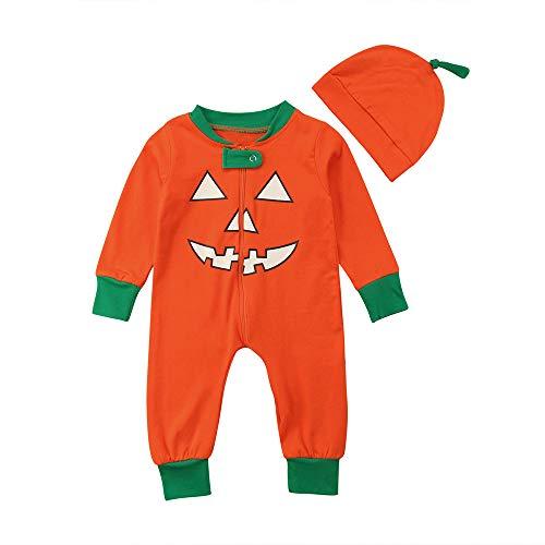 Overdose Ropa De La Familia De Halloween Madre Padres-NiñO Lindos Calabazas De LiquidacióN Camiseta Tops Blusa De Traje A Juego Sudadera (18 Meses, Naranja (bebé))