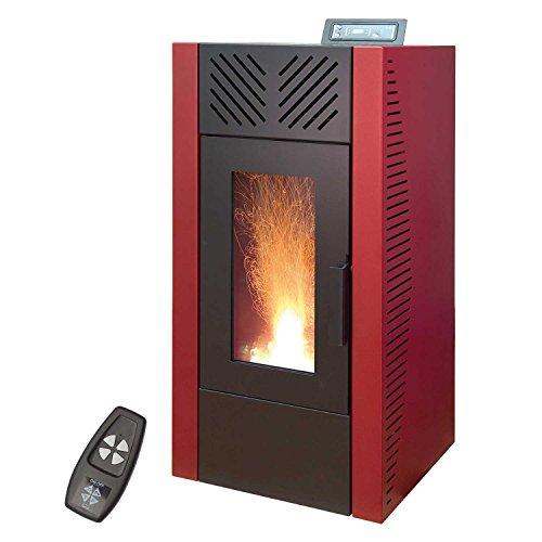 Pelletofen 7,3 kW Blaze Economic, Farbe:rot
