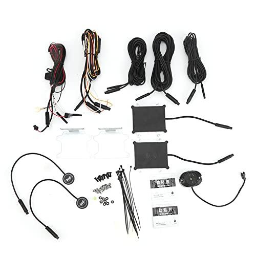 Fydun Kit de sistema de sensor de detectores de punto ciego de radar de coche Sistema de detección de punto ciego de 24 Ghz 2 radares Alerta BSM Asistente de cambio de carril Distancia de detección