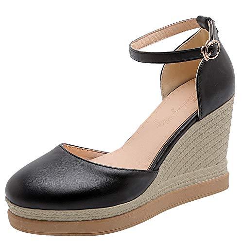 NIGHT CHERRY Mujer Moda Tacón de Cuña Pumps Zapatos Plataforma