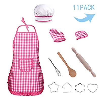 Refasy Kids Toys for Girls Age 3-7,Cooking and Baking Set for Children Great Birthday Xmas Gifts Toy for Boy Girl 4-8 Year Old Kitchen Accessories Set for Kids Chef Pretend Play for Kid Pink