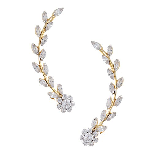 Archi Collection Golden Rodium Plated CZ Earcuffs For Women, EREC0010 Price in India