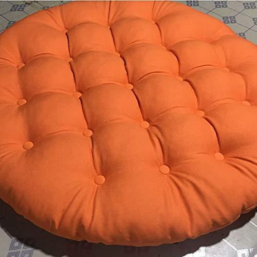 amortiguar Gruesa Presidente de lino del amortiguador,una silla cómoda Cojín silla colgante de huevo Cojín Cojín de suelo de tatami multifuncional Crema-55CM Interior exterior ( Color : Naranja )