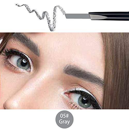 ANIFER Augenbrauenstift Grau Wasserdichtes, automatisch einziehbares, langlebiges, doppelendiges Make-up (grau/Gray # 5)