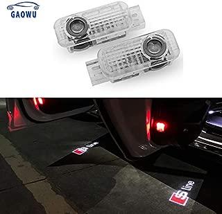 No Wiring 2Pcs for RAM Car Door Logo Projector Lights Wireless Type Projector Car Door Lights for All Models No Punching fits RAM Led Welcome Laser Door Lights Logo
