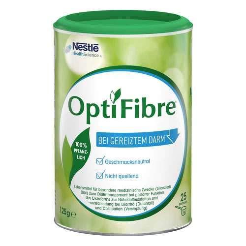 OptiFibre Pulver | 1 x 125g Dose zum Diätmanagement bei gestörter Funktion des Dickdarms zur Nährstoffresorption und -ausscheidung bei Durchfall und Verstopfung | bei gereiztem Darm | 100% pflanzlich