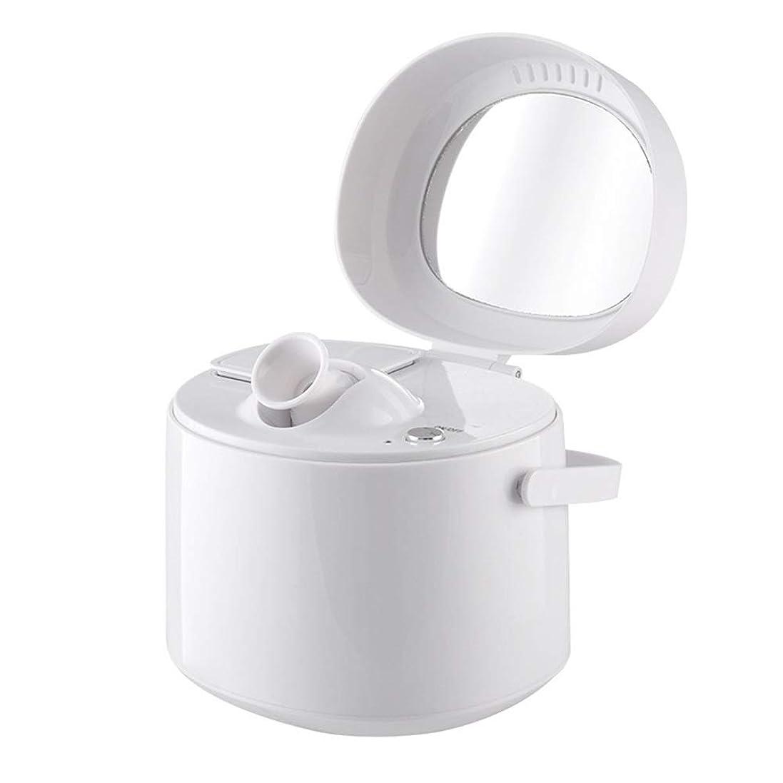 絶望的なカップルバスZXF ホットスプレースチームフェイス美容器具ホームナノイオン保湿スプレー美容器具美容ミラーホワイト 滑らかである