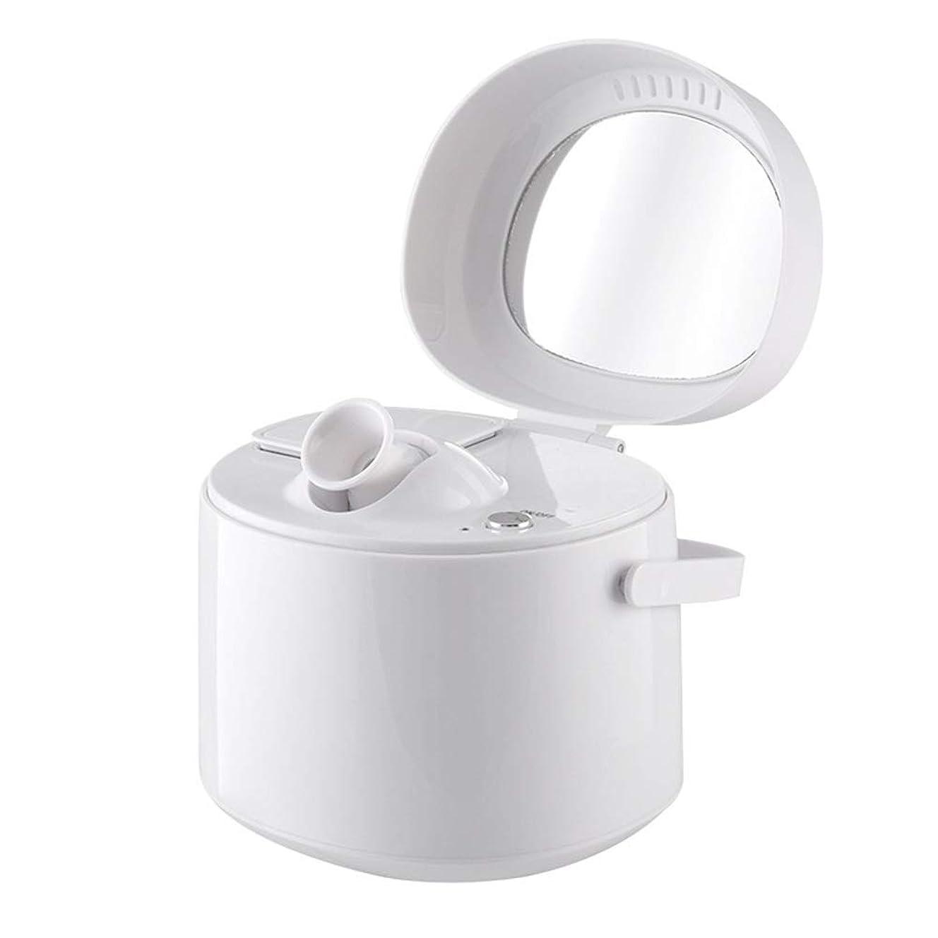 ZXF ホットスプレースチームフェイス美容器具ホームナノイオン保湿スプレー美容器具美容ミラーホワイト 滑らかである