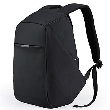 Theft Proof Backpack, Anti-Theft Travel Backpack, Hidden Zipper Bag USB Charging Port, Water Resistant Business Travel Laptop Bag Student Work Men & Women Oscaurt Black
