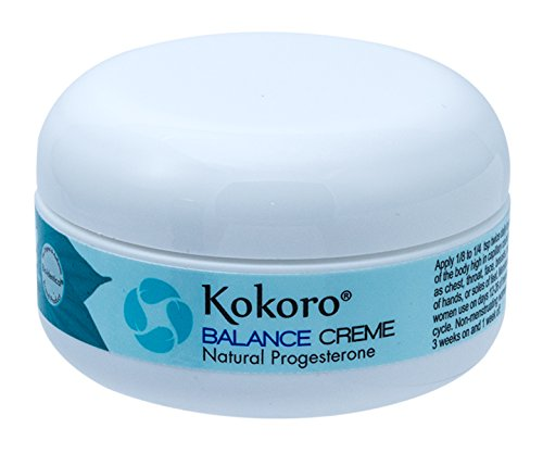 Kokoro Balance Creme for Women, Bioidentical Natural Progesterone Cream for Menopause Support, 2oz...