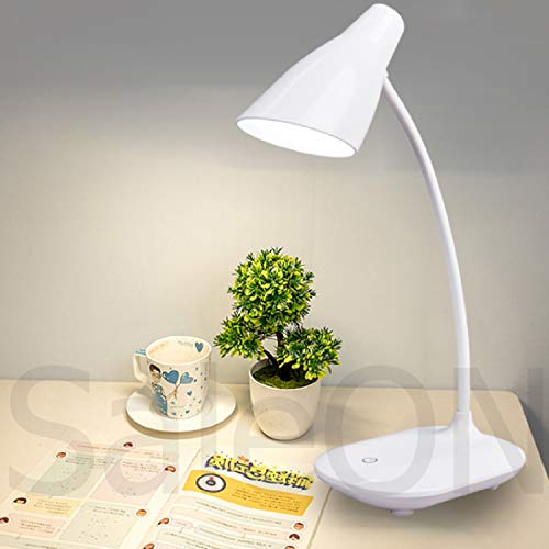 SaleON LED Stand Flexible Desk Lamp Modern Touch Switch Led Rechargeable Night Light Table Lamps Eye Care Reading Study Bed Side Lamp (Assorted-Colors)-1242