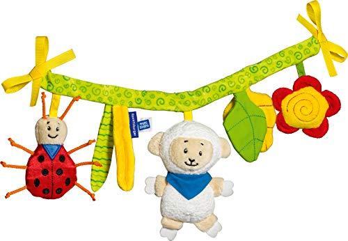 Ravensburger ministeps 4157 Kinderwagenkette, Kinderwagenspielzeug mit Glöckchen und Plüschtieren, Für Kinderwagen, Babyschale oder Kinderbett, Baby Spielzeug ab 0 Monate