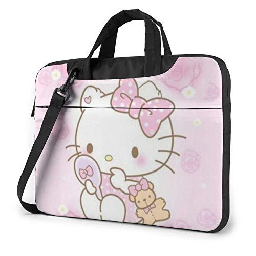 Bolso para ordenador portátil Busin de Hello Kitty, para hombres y mujeres, para ordenador portátil, 15,6 pulgadas