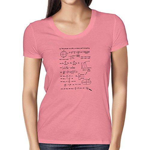Nexxus The Answer to Everything - Damen T-Shirt, Größe XL, pink