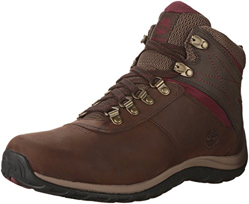 Timberland Women's Norwood Mid Waterproof Hiking Boot, Dark Brown, 8