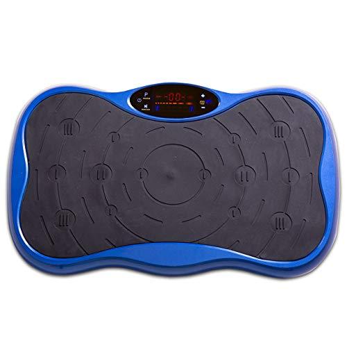 aktivshop Vibrationsplatte Vibrationstrainer inkl. Expanderbändern Fernbedienung rutschfeste Standfläche platzsparend gelenkschonend für zuhause