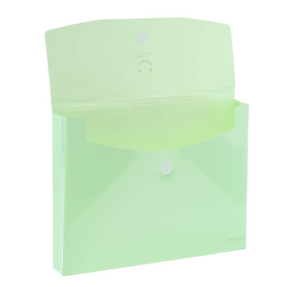 代わりに篭商業のファイルフォルダー A4 プラスチック製 オフィス用 文書管理用 文書保管用 大容量 全5色 - グリーン