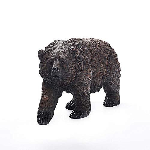 SY-Home Garden black bear model statue, resin bear craft model balcony garden lawn decoration ornaments H21CM