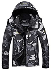Waterproof Windproof Snow Ski Jacket, also can fights bad rainy or misty weather, Keep your body always dry and comfortable when you are outside. Adjustable cuffs,stretchable glove hole help seal in warmth, windproof adjustable storm hood help to kee...