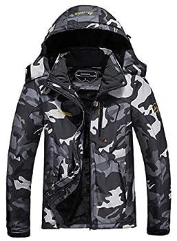 MOERDENG Men s Waterproof Ski Jacket Warm Winter Snow Coat Mountain Windbreaker Hooded Raincoat