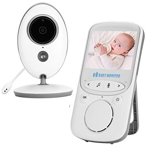 [Upgraded] Moniteur Bébé Vidéo, NVMIAO Babyphone vidéo Sans Fil avec écran 2.4'HD, Mode Smart ECO, très longue portée, vision nocturne et capteur de la température ambiante,berceuses,Infrarouge, NV605