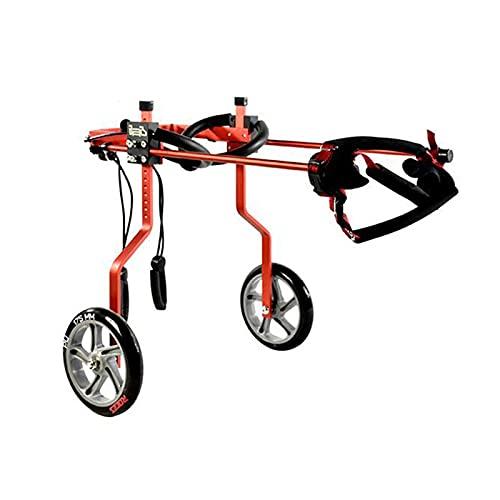 Carro de 2 ruedas Silla de ruedas para mascotas para patas traseras discapacitadas, silla de ruedas ajustable para mascotas para perros pequeños, gatos / perritos / cachorros, paseo (1 kg-60 kg) (Tama
