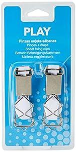 PLAY 41990 - Pinzas sujeta-sábanas, color blanco