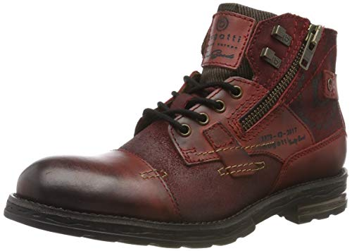 bugatti Herren 321612301214 Klassische Stiefel, Rot, 41 EU