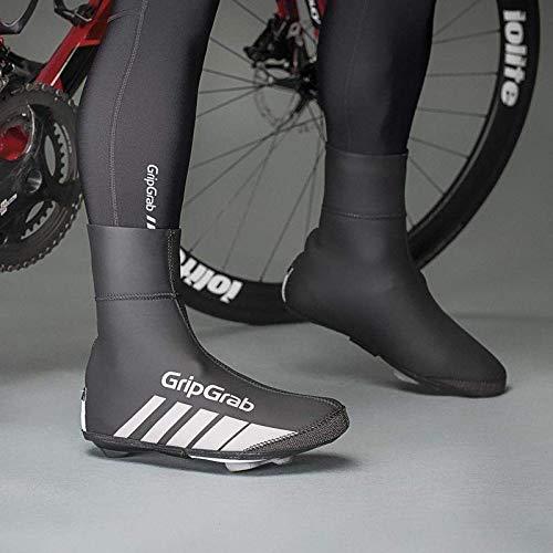 GripGrab RaceThermo/Hiver Couvre-Chaussures de Course/Couvre-Selle imperméable en néoprène, Mixte, 2021, Noir, (38/39)