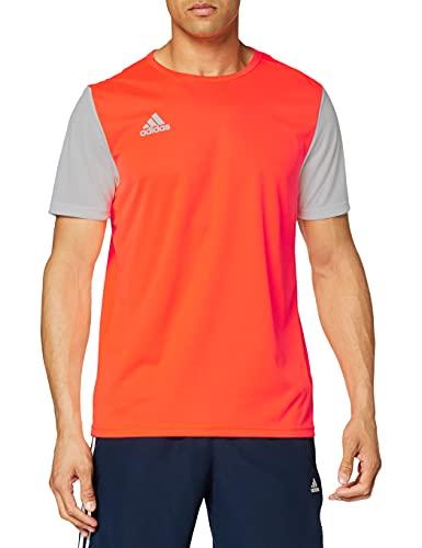 adidas ESTRO 19 JSY Camiseta de Manga Corta, Niños, Solar Orange, M