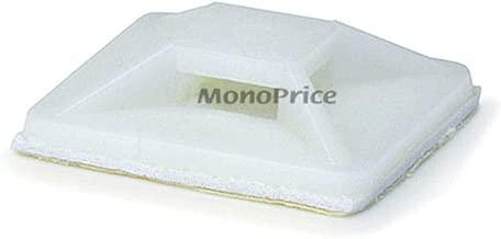 Monoprice Cable tie mounts 25x25(mm), 100pcs/Pack - white