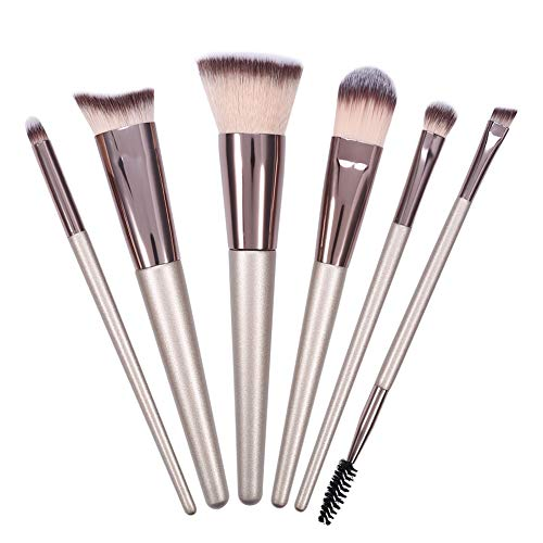 Maquillage Pinceau-6Pcs / Set Pinceaux De Maquillage Poudre De Champagne Sourcils Cils Blush Blending Brush Kit