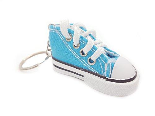 Familienkalender Sneaker Baby Kinder süßer Kleiner Schuh Schlüsselanhänger Anhänger | Geburt | Mädchen | Junge | Geschenk | türkis/hellblau