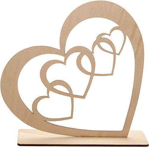 Spruchreif PREMIUM QUALITÄT 100% EMOTIONAL · Deko Herz aus Holz · Holzherz zum Hinstellen · Tischdeko · Holzdeko · Dekofigur mit Herzen