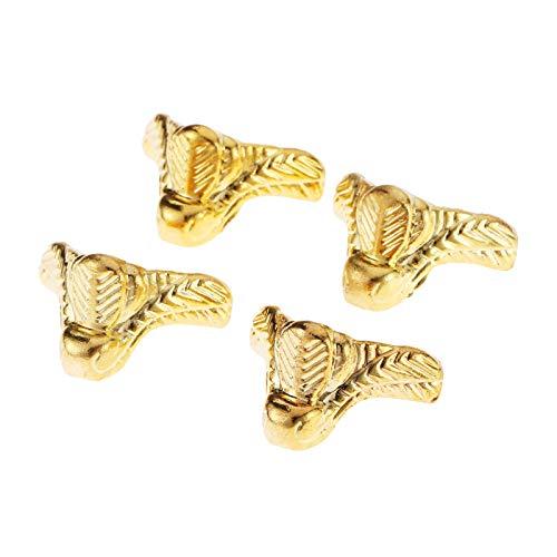 Die Halterung ist auf rechten Winkeln und Ecken befestigt 4Pcs 29x17mm, Gold, Holz Box Füße Bein Corner Schutzhülle for die Edge-Abdeckung Corner Schutz-Schutz-dekorative Halterung for Möbel