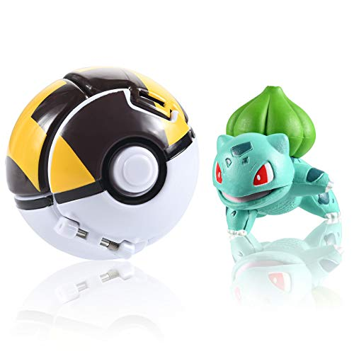 OMZGXGOD Poké Ball,Pokeball mit Figur,Pokemon bälle zum werfen,Pokémon Poké Ball Pokeball, Pokemon Mini Figurines Pour Enfants et Adultes Party Celebration Fun Toy Game Gift